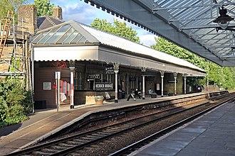 Hebden Bridge railway station - A view of platform 2 in 2015