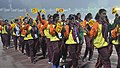 Players of Sri Lanka take participants march past, during the closing ceremony of the 12th South Asian Games-2016, in Guwahati on February 16, 2016.jpg