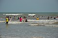 Playful People with Sea Waves - New Digha Beach - East Midnapore 2015-05-01 8696.JPG