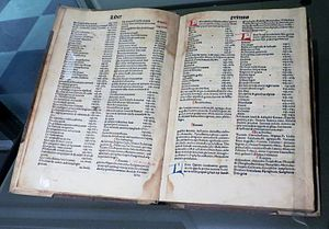 Natural History (Pliny) - Naturalis Historia, work printed by Johannes Alvisius in 1499 in Venice, Italy