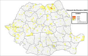 Poles in Romania - Poles in Romania (2002 census)