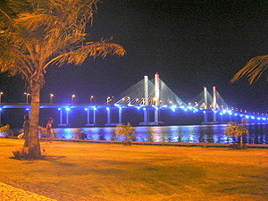 Sergipe - Aracaju-Barra Bridge at night.