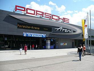 Porsche-Arena - Image: Porsche Arena Eingang