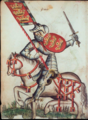 Portrait équestre du roi Arthur - MS Clairambault 1312.png