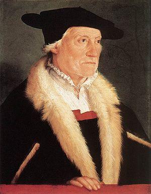 Sebastian Münster - Portrait of Sebastian Münster by Christoph Amberger, c. 1552