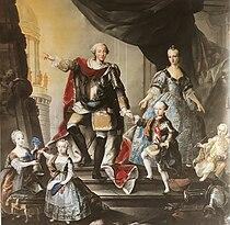 Portrait of the family of the Duke of Savoy by Giuseppe Duprà circa 1760.jpg