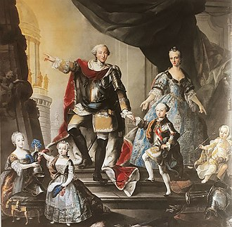 Maria Antonia Ferdinanda of Spain - The Family of the Duke of Savoy in 1760, Giuseppe Duprà