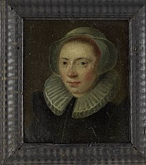 Portrait of a young woman at bust length