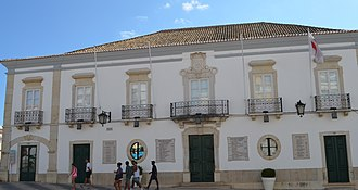 Loulé - The 18th century facade of the municipal council of Loulé