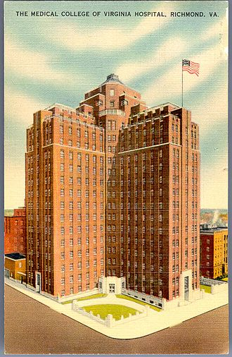 VCU Medical Center - The West Hospital in Richmond, Virginia, postmarked 1942