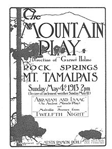 Poster from the Mountain Play's first performance.jpg