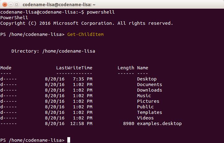 PowerShell for Linux 6.0 Alpha 9 on Ubuntu