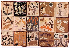 African-American art - Harriet Powers, Bible quilt, Mixed Media. 1898.