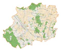 Mapa lokalizacyjna powiatu dzierżoniowskiego