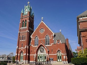 L'Eglise du Precieux Sang (Woonsocket, Rhode Island) - Image: Precious Blood Church