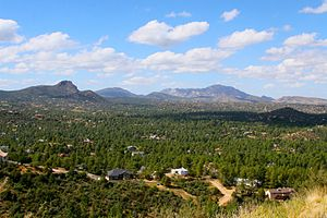 Prescott, Arizona - Thumb Butte and Granite Mountain in Prescott.
