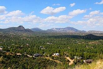 Prescott, Arizona - Thumb Butte and Granite Mountain in Prescott.
