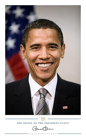 President-elect Barack Obama, headshot