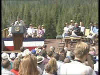 File:President Clinton at New World Mine Property Agreementing Signing (1996).webm