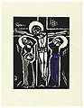 "Print, Ukrizovani, Crucifixion, Plate V, ""Ethiopie, cili Christos, Madonna a Svati, jak jsem ie videl v illuminacich starych ethiopskych kodexu"" Portfolio, 1920 (CH 18684917).jpg"