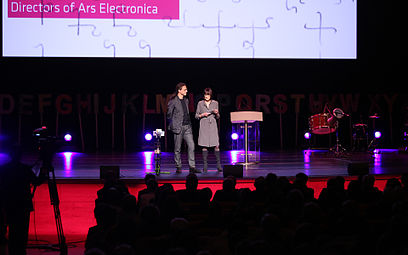 Prix ars electronica 2012 07 Christine Schöpf, Gerfried Stocker.jpg