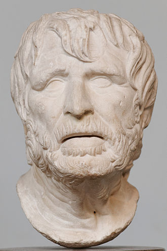 Hesiod - The bust was identified for a very long time with the Roman philosopher Seneca the Younger, but it may actually represent Hesiod.