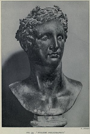 Ptolemy II Philadelphus - Ptolemy Philadelphus bust, excavated at the Villa of the Papyri.