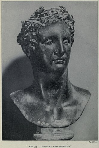 Ptolemy II Philadelphus - Ptolemy Philadelphus bust, excavated at the Villa of the Papyri