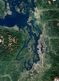 sound along the northwestern coast of the U.S. state of Washington