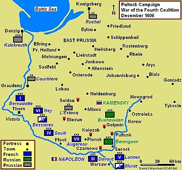 Battles of Czarnowo, Pultusk and Golymin, December 1806