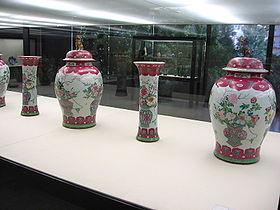 Qing Dynasty vases, in the Calouste Gulbenkian Museum, Lisbon