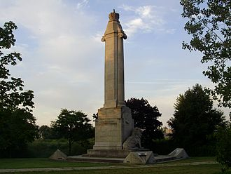 Lake Shore Boulevard - The lion monument originally stood at the entrance to the Queen Elizabeth Way near the Humber River. It was moved to this location when the QEW was widened.