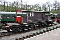 Queen Mary Brake Van at Norchard Dean Forest Railway.JPG
