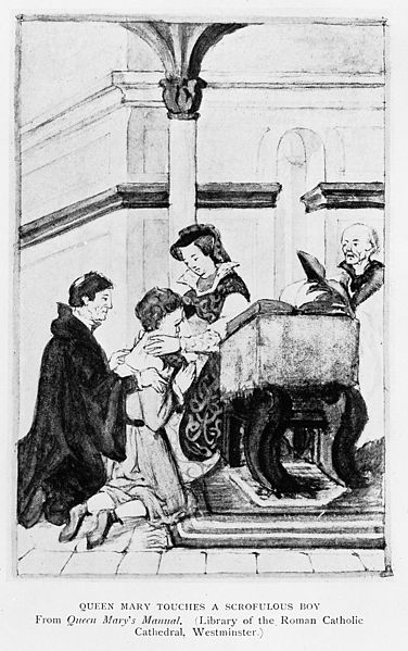 File:Queen Mary touching for the King's Evil Wellcome M0017625.jpg