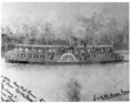 Queensland State Archives 3381 Press Club picnic on paddle steamer Chelmer Reach of the Brisbane River 5 November 1892.png