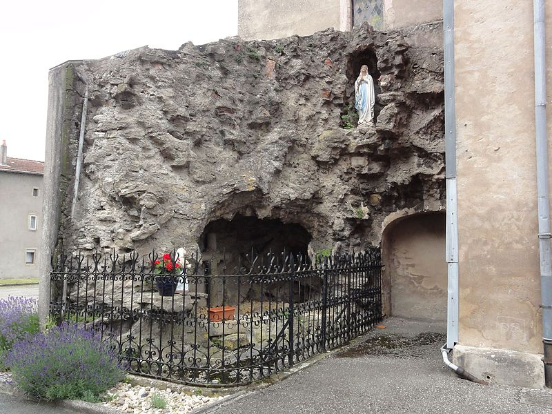 Réchicourt-le-Château (Moselle) grotte de Lourdes (A, la grande)
