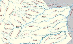 Meta River - The Meta River and its tributaries