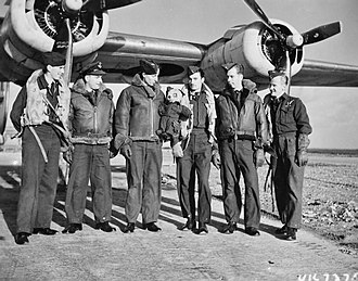 No. 224 Squadron RAF - 224 Squadron Liberator crew at RAF St Eval after sinking two U-boats on a single sortie, June 1942