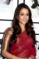 Raima Sen at the unveiling of coffee table book on Rambagh Palace, Jaipur in 2013 (01).jpg