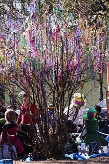 Mardi Gras throws small gifts or trinkets passed out during Mardi Gras parades