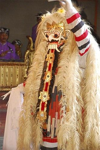 Rangda - Depiction of Rangda in Balinese Barong dance drama.