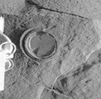 Imagen de la roca adirondack taladrada.