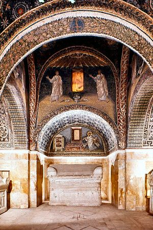 Galla Placidia - Interior of the Mausoleum of Galla Placidia in Ravenna
