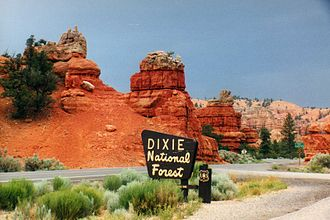 Dixie National Forest - Red Canyon at Scenic Byway 12