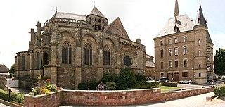 Redon Abbey abbey located in Ille-et-Vilaine, in France