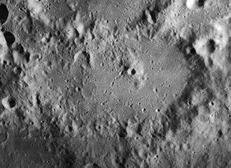 Regiomontanus (crater) - Lunar Orbiter 4 image