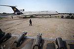 Relocation of Kish Air Tupolev Tu-154 (EP-LBR) to the Kish Island coast (2).jpg