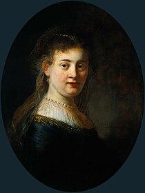 Rembrandt, Portrait of Saskia van Uylenburgh, 1633, Rijksmuseum Amsterdam.jpg
