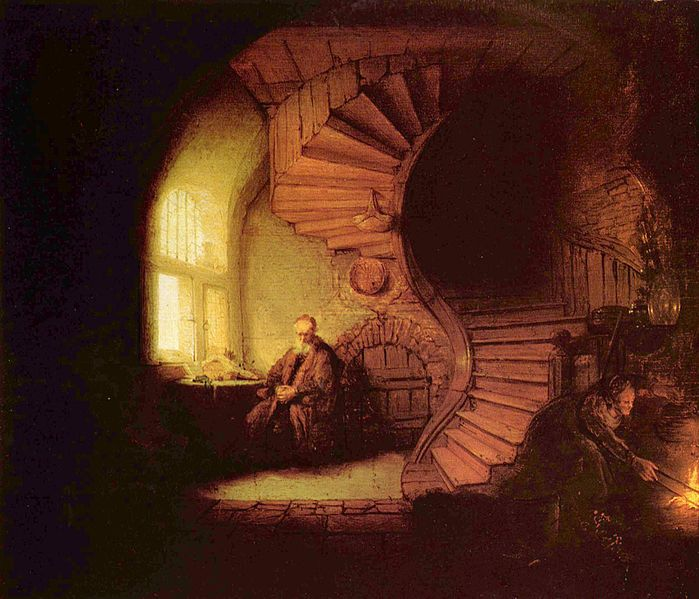 Le philosophe, par Rembrandt