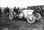 René Hanriot in his Benz at the 1908 French Grand Prix at Dieppe.jpg
